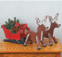 Holiday Sleigh & Reindeer Patterns