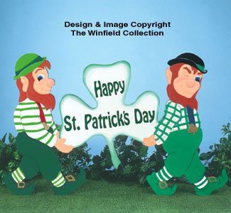 Leprechaun Pair Yard Sign Pattern
