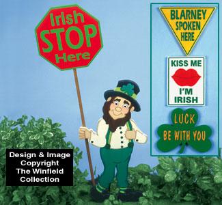St Paddy's Traffic Signs Pattern