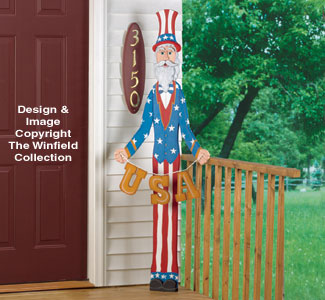 Slender Uncle Sam Woodcraft Pattern