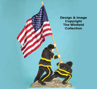 Fireman Flag Holder Woodcraft Pattern