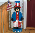 Patriotic Bear Woodcrafting Pattern