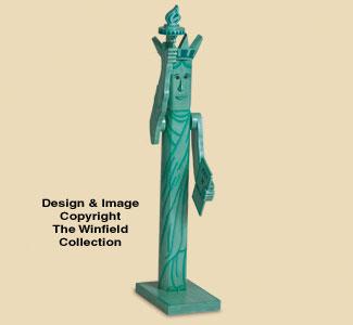 Pole Lady Liberty Woodcraft Pattern