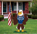 Proud American Eagle Wood Pattern