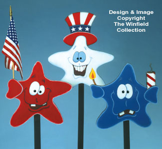 Patriotic Stars Woodcrafting Pattern