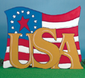 USA Flag Woodcrafting Project Pattern