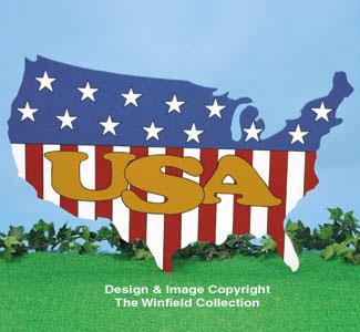 USA Display Woodcraft Pattern