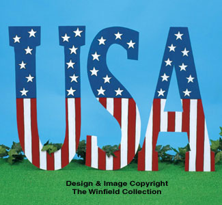 Giant USA Display Pattern