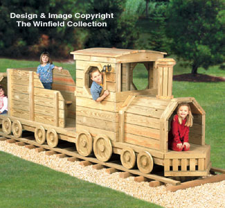 Locomotive and Coal Car Play Structure Plans