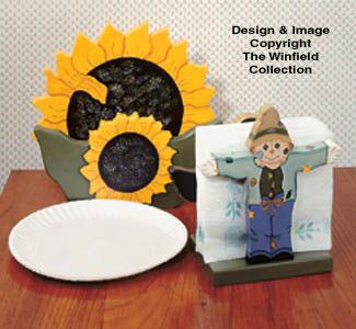 Sunflower Paper Plate/Napkin Holder