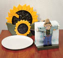 Sunflower Paper Plate/Napkin Holder