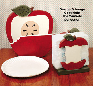 Apple Paper Plate/Napkin Holder