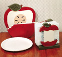 Apple Paper Plate/Napkin Holder