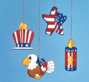 4th Of July Ornaments Woodcraft Pattern