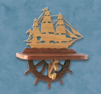 Sailing Ship Shelf Scroll Saw Pattern