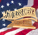 God Bless America Trio Scroll Saw Pattern