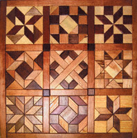 Geo Shape Wood Quilt Design