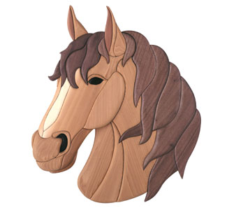 Horse Intarsia Pattern