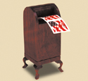 Mailbox Stamp Dispenser Wood Pattern