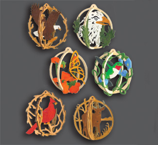 3D Ornament Globes Scroll Saw Pattern Set