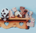 45 Shelf Critters Woodcraft Pattern