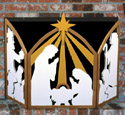 Nativity Fireplace Screen Woodcraft Pattern