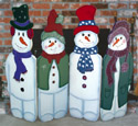 Folding Snowmen Woodcraft Pattern