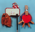 Sports Equipment Hangers Woodcraft Pattern