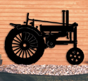 Farm Tractor Shadow Woodcrafting Pattern