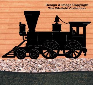 Locomotive Shadow Woodcrafting Pattern
