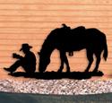 Coffee Break Cowboy Shadow Wood Pattern