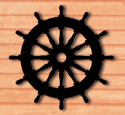 Ships Wheel Shadow Woodcrafting Pattern