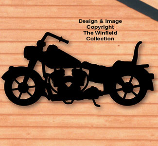 Motorcycle Shadow Woodcrafting Pattern