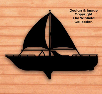 Sailboat Shadow Woodcrafting Pattern
