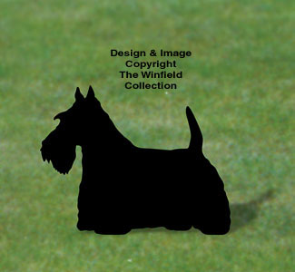 Scottish Terrier Shadow Woodcraft Pattern