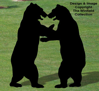 Wrestling Bears Shadow Woodcraft Pattern
