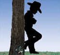 Cowboy Kid Shadow Woodcrafting Pattern