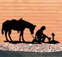Cowboy Prayer Shadow Wood Pattern