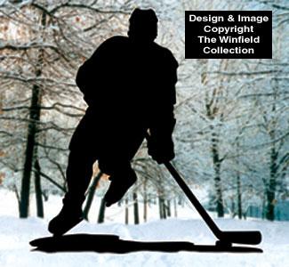 Hockey Player Shadow Woodcrafting Pattern