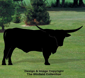 Longhorn Shadow Woodcrafting Pattern