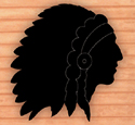 Indian Chief Shadow Woodcrafting Pattern