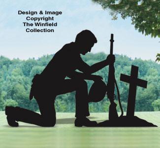 Soldiers Prayer Shadow Woodcraft Pattern