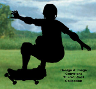 Skateboarder Shadow Woodcrafting Pattern