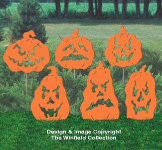 Fearsome Pumpkins Shadow Wood Pattern