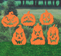 Fearsome Pumpkins Shadow Wood Pattern