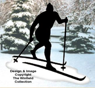 Skier Shadow Woodcrafting Pattern