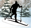 Skier Shadow Woodcrafting Pattern
