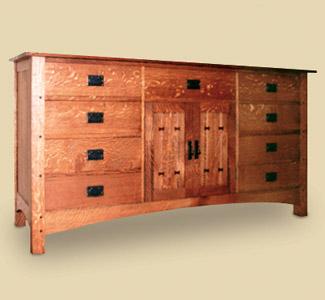 Mission Dresser Wood Plan