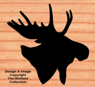 Giant Moose Head Shadow Woodcraft Pattern