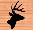 Giant Deer Head Shadow Woodcraft Pattern